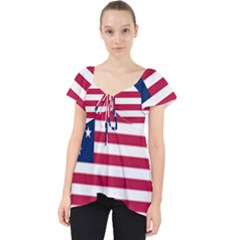 Flag Of Vermont, 1804 1837 Lace Front Dolly Top