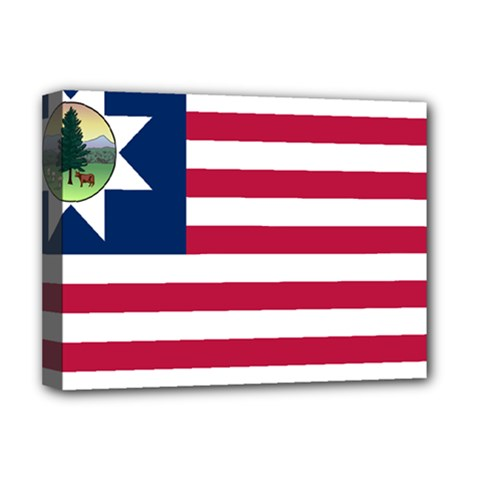 Flag Of Vermont, 1837 1923 Deluxe Canvas 16  X 12  (stretched)  by abbeyz71