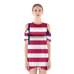 Flag Of Vermont, 1837 1923 Shoulder Cutout One Piece Dress by abbeyz71