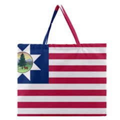 Flag Of Vermont, 1837 1923 Zipper Large Tote Bag by abbeyz71
