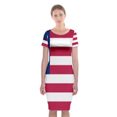 Flag Of Vermont, 1837-1923 Classic Short Sleeve Midi Dress by abbeyz71