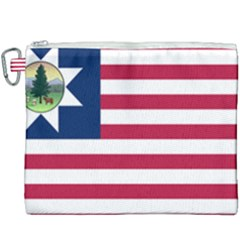 Flag Of Vermont, 1837 1923 Canvas Cosmetic Bag (xxxl) by abbeyz71