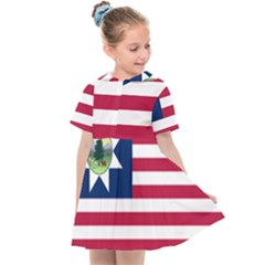 Flag Of Vermont, 1837-1923 Kids  Sailor Dress by abbeyz71