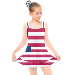 Flag Of Vermont, 1837 1923 Kids  Layered Skirt Swimsuit