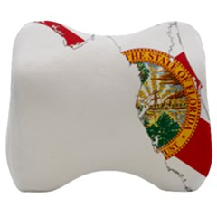 Flag Map Of Florida  Velour Head Support Cushion by abbeyz71