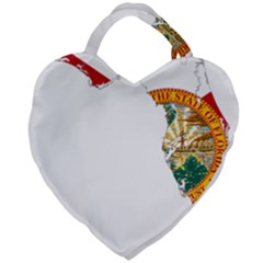 Flag Map Of Florida  Giant Heart Shaped Tote by abbeyz71