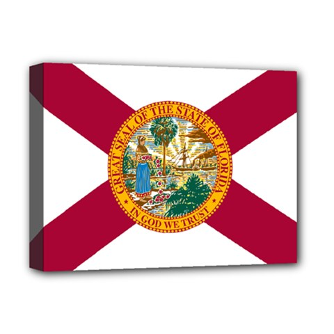 Flag Of Florida Deluxe Canvas 16  X 12  (stretched)  by abbeyz71