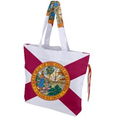 Flag Of Florida Drawstring Tote Bag by abbeyz71