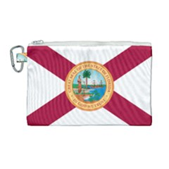 Flag Of Florida, 1900 1985 Canvas Cosmetic Bag (large) by abbeyz71
