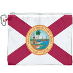 Flag Of Florida, 1900 1985 Canvas Cosmetic Bag (xxxl) by abbeyz71