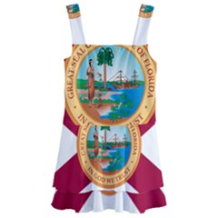 Flag Of Florida, 1900 1985 Kids  Layered Skirt Swimsuit