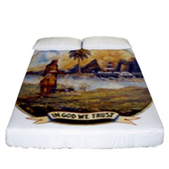 Flag Of Florida, 1868 1900 Fitted Sheet (queen Size) by abbeyz71
