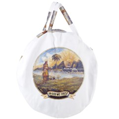 Flag Of Florida, 1868 1900 Giant Round Zipper Tote by abbeyz71