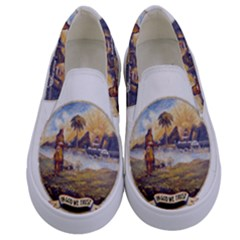 Flag Of Florida, 1868 1900 Kids  Canvas Slip Ons