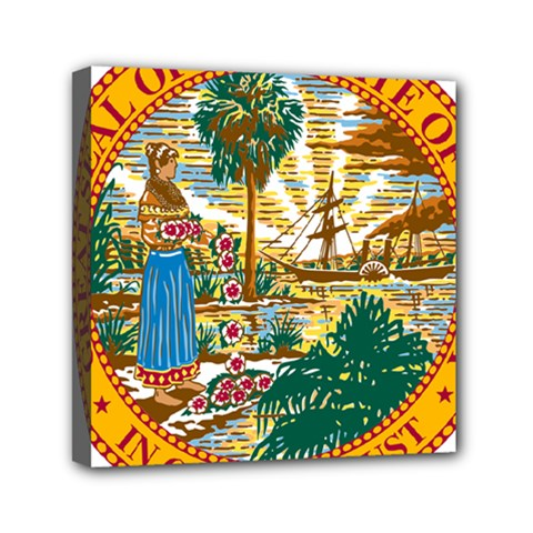 Great Seal Of Florida  Mini Canvas 6  X 6  (stretched) by abbeyz71