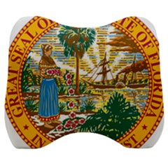 Great Seal Of Florida  Velour Head Support Cushion by abbeyz71