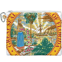 Great Seal Of Florida  Canvas Cosmetic Bag (xxxl) by abbeyz71
