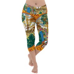 Great Seal Of Florida  Lightweight Velour Capri Yoga Leggings