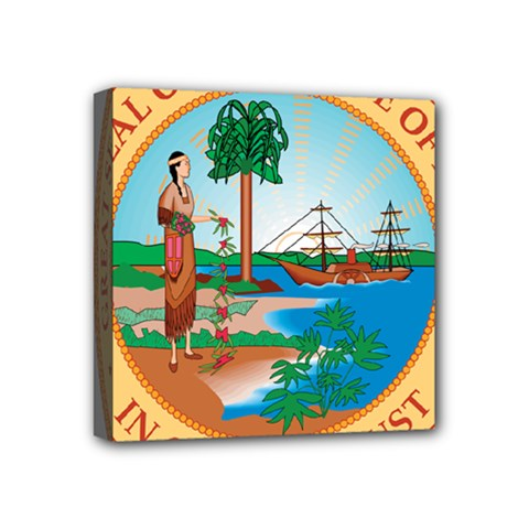 Great Seal Of Florida, 1900 1985 Mini Canvas 4  X 4  (stretched) by abbeyz71