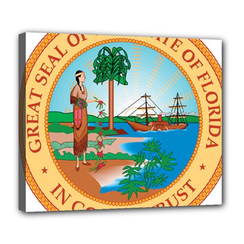 Great Seal Of Florida, 1900 1985 Deluxe Canvas 24  X 20  (stretched) by abbeyz71