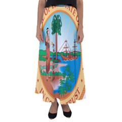 Great Seal Of Florida, 1900-1985 Flared Maxi Skirt by abbeyz71