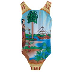Great Seal Of Florida, 1900 1985 Kids  Cut Out Back One Piece Swimsuit by abbeyz71