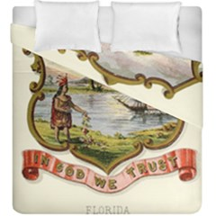 Historical Florida Coat Of Arms Duvet Cover Double Side (king Size) by abbeyz71