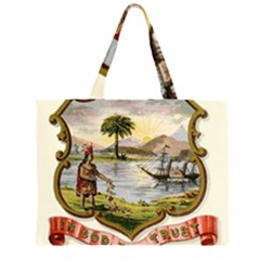 Historical Florida Coat Of Arms Zipper Large Tote Bag by abbeyz71
