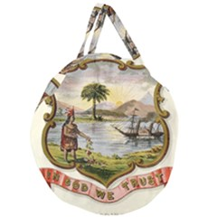 Historical Florida Coat Of Arms Giant Round Zipper Tote by abbeyz71
