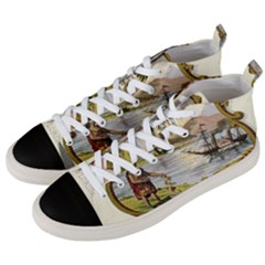 Historical Florida Coat Of Arms Men s Mid Top Canvas Sneakers by abbeyz71