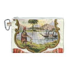 Historical Florida Coat Of Arms Canvas Cosmetic Bag (large) by abbeyz71