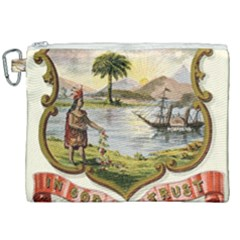 Historical Florida Coat Of Arms Canvas Cosmetic Bag (xxl) by abbeyz71