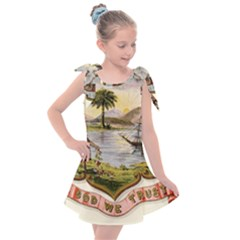 Historical Florida Coat Of Arms Kids  Tie Up Tunic Dress