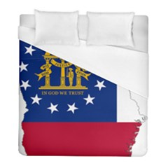 Flag Map Of Georgia Duvet Cover (full/ Double Size) by abbeyz71