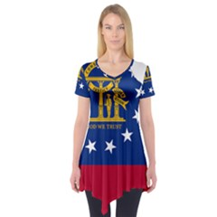 Flag Map Of Georgia Short Sleeve Tunic