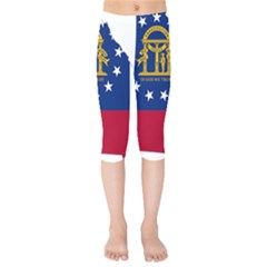 Flag Map Of Georgia Kids  Capri Leggings  by abbeyz71