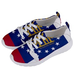 Flag Map Of Georgia Women s Lightweight Sports Shoes by abbeyz71