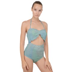 Shockwave Scallop Top Cut Out Swimsuit
