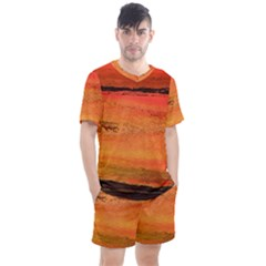 Sunset Men s Mesh Tee And Shorts Set