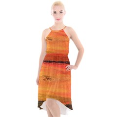 Sunset High Low Halter Chiffon Dress