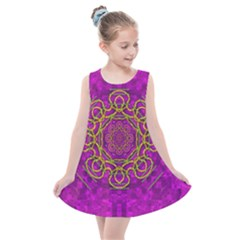 Star Of Freedom And Silent Night Kids  Summer Dress by pepitasart