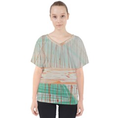 Wheat Field V Neck Dolman Drape Top