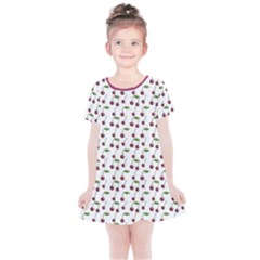 Musical Cherries Pattern Kids  Simple Cotton Dress by emilyzragz