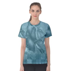Wonderful Blue Soft Roses Women s Cotton Tee by FantasyWorld7