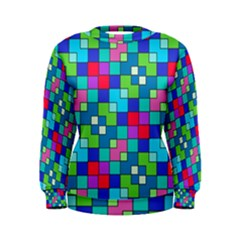 Retro Squares                                              Women s Sweatshirt by LalyLauraFLM