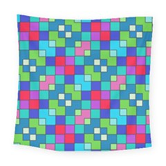 Retro Squares                                            Square Tapestry by LalyLauraFLM
