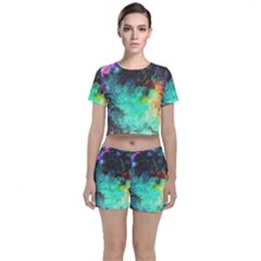 3d Paint                                      Crop Top And Shorts Co-ord Set by LalyLauraFLM