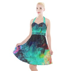 3d Paint                                               Halter Party Swing Dress by LalyLauraFLM