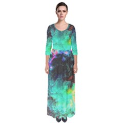3d Paint                                              Quarter Sleeve Maxi Dress by LalyLauraFLM