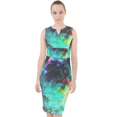 3d Paint                                              Midi Bodycon Dress by LalyLauraFLM